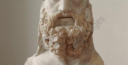 Fragment rzymskiej rzeźby ukazującej Jowisza Tonansa (Gromowładnego)