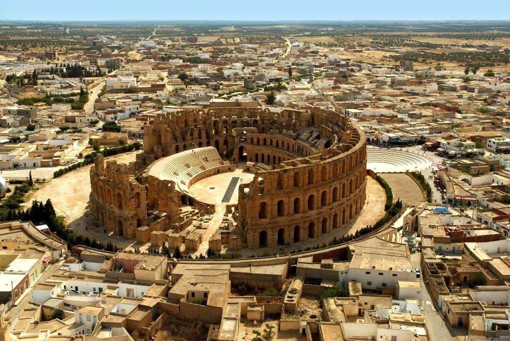 The unique amphitheater in El Jam