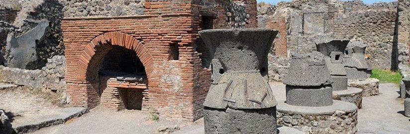 Młyny w piekarni w Pompejach