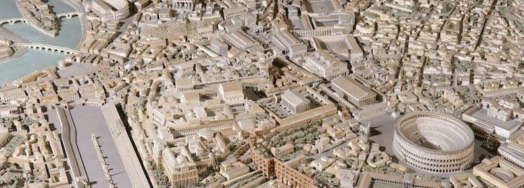 Makieta Rzymu z IV wieku autorstwa Italo Gismondi