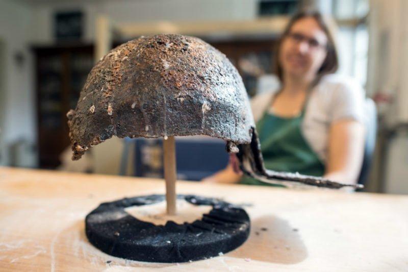 Jeden z hełmów rzymskich, znalezionych w Krefeld