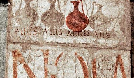 Szyld reklamowy rzymskiej winiarni