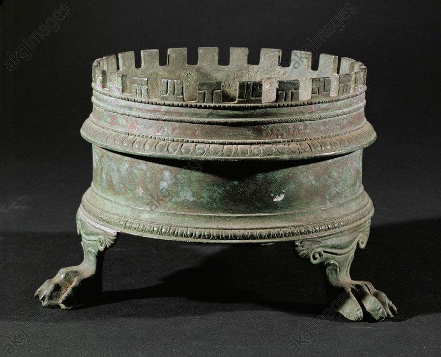 Rzymski kosz z mosiądzu