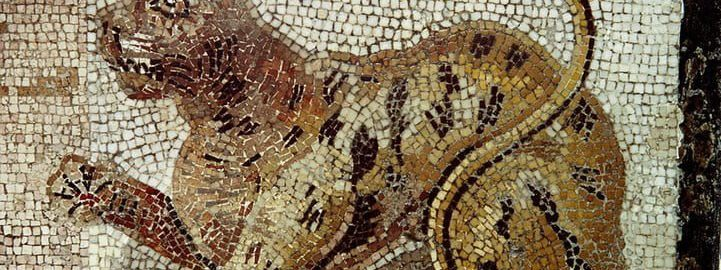 An interesting mosaic depicting a cat