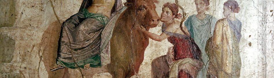 Fresk ukazujący porwanie Europy