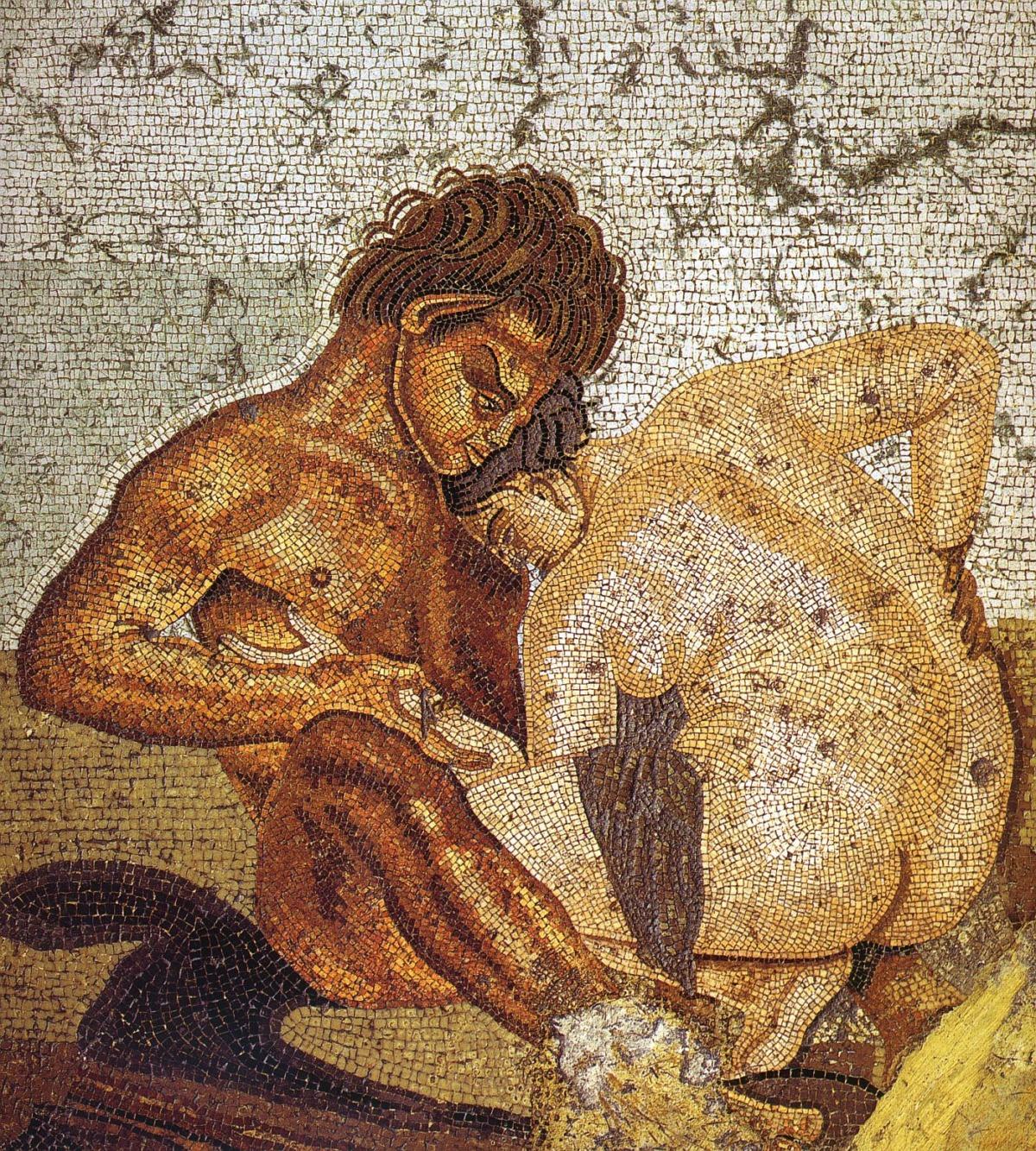 Mozaika z satyrem i nimfą