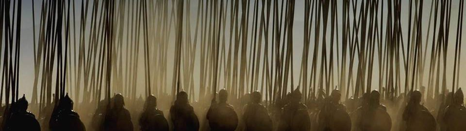 "A scene from the movie ""Aleksander"". Macedonian phalanx on the  march"