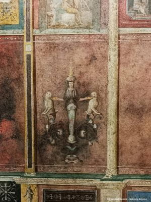 Detail of a fresco from the so-called Agrippa's Villa in Trastevere. Currently in the Palazzo Massimo Alle Terme Museum