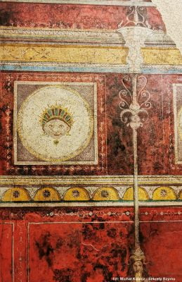 Detail of another fresco from the so-called Agrippa's Villa in Trastevere. Currently in the Palazzo Massimo Alle Terme Museum
