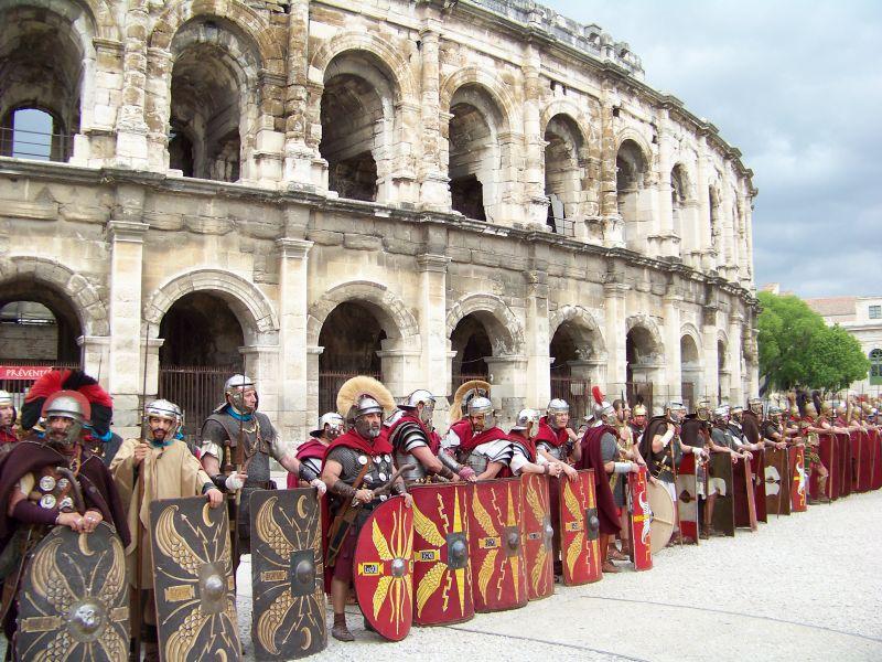 Koloseum z żołnierzami
