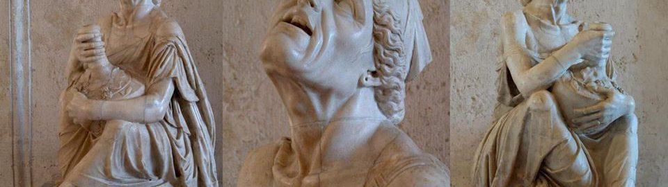 Roman sculpture of a drunk woman