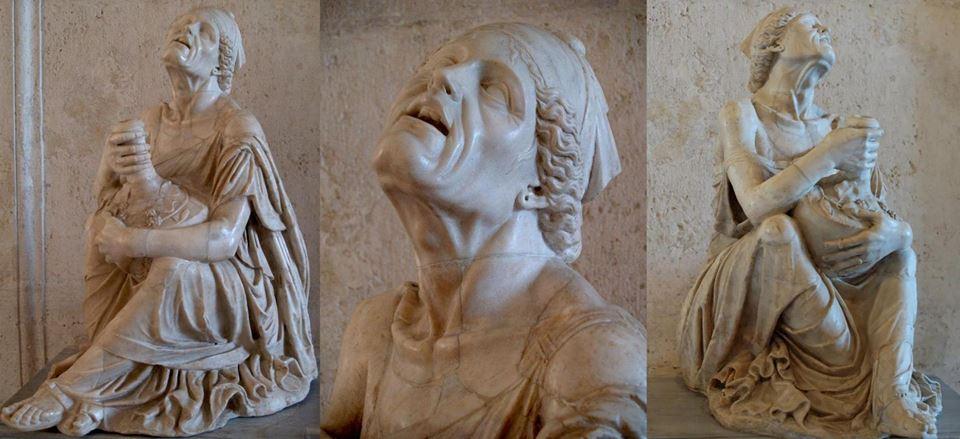 Rzymska rzeźba pijanej kobiety