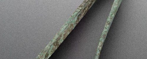 Roman bronze tweezers