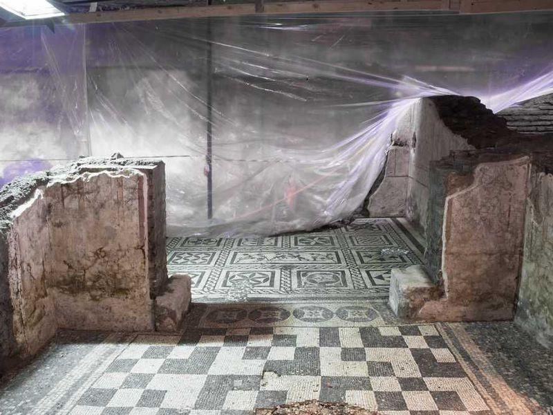 Odkryty dom rzymskiego wojskowego w Rzymie