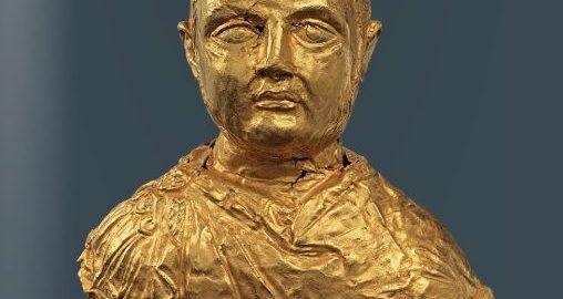 Golden bust of the Roman emperor Licinius