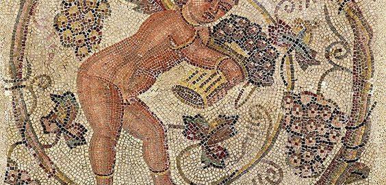Amor zbierający winogorna