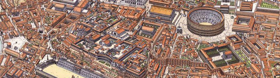 Centrum Rzymu ukazujące Rzym w IV wieku n.e.