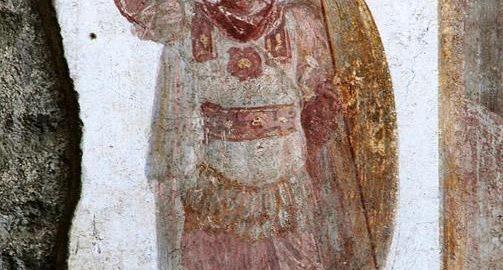 Rzymski fresk ukazujący legionistę