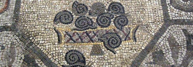 Roman mosaic showing snails