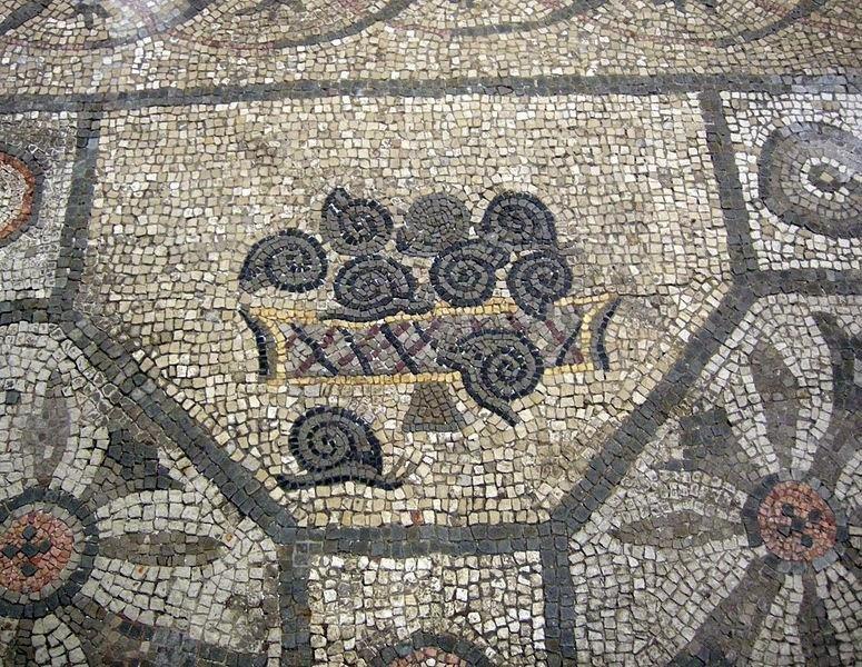 Mozaika rzymska ukazująca ślimaki