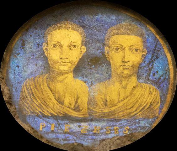 Cudowny rzymski portret młodzieńców