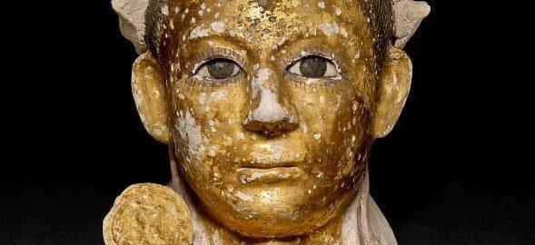 Painted Roman mask