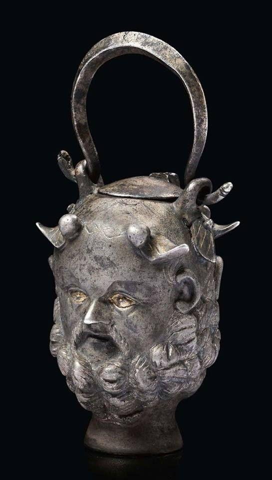 Rzymskie balsamarium w kształcie głowy Janusa