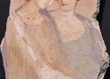 Two women on fragment of Roman fresco