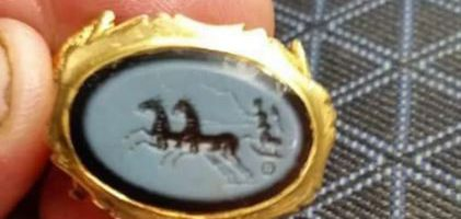 An amateur archaeologist discovered a 1,800-year-old Roman ring