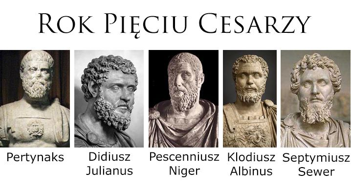 Five emperors after the death of Commodus