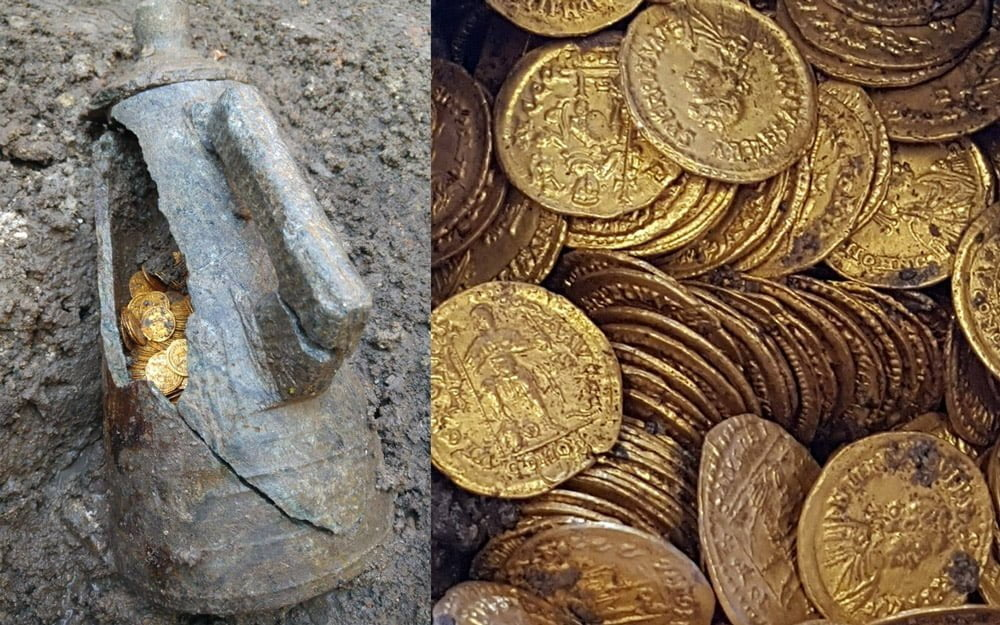 Na północy Italii odkryto setki złotych rzymskich monet