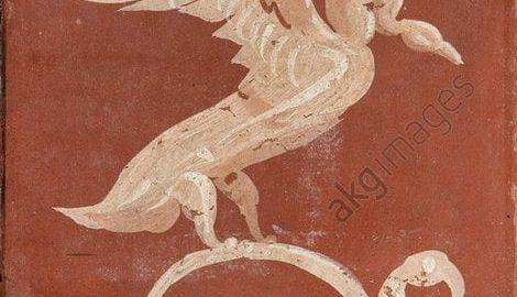 Łabędź na rzymskim fresku