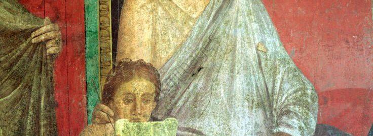 A reading girl on a Roman fresco