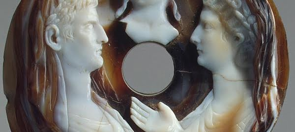A cameo showing August, Livia and the young Nero