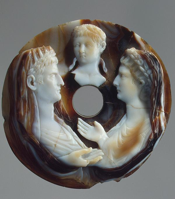 Cameo showing Augustus, Livia and young Nero