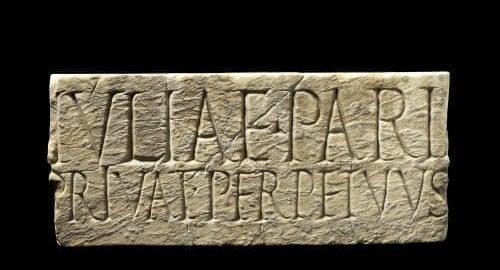 Roman border marker for two houses