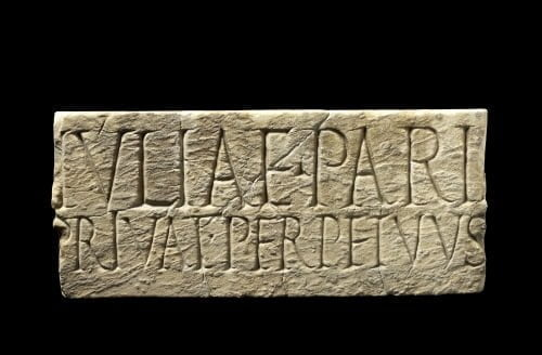 Rzymski znacznik graniczny dla dwóch domów