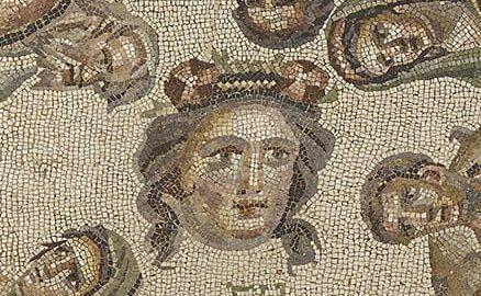 Rzymska mozaika ukazująca scenę na targu