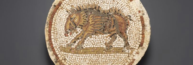 Roman mosaic showing a boar