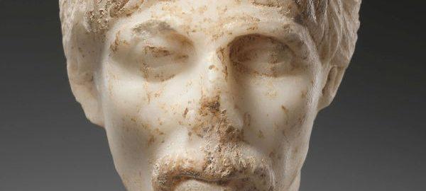 Rzymska głowa ukazująca brodatego mężczyznę