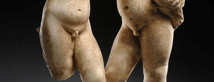 Roman marble sculptures of men