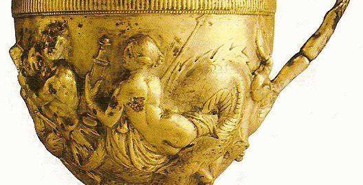 Beautiful Roman golden cup