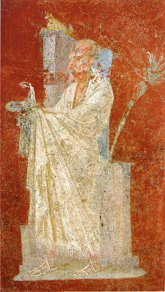 Fresk ukazujący rzymskiego kapłana