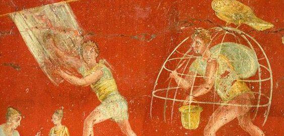 Roman fresco showing fullers