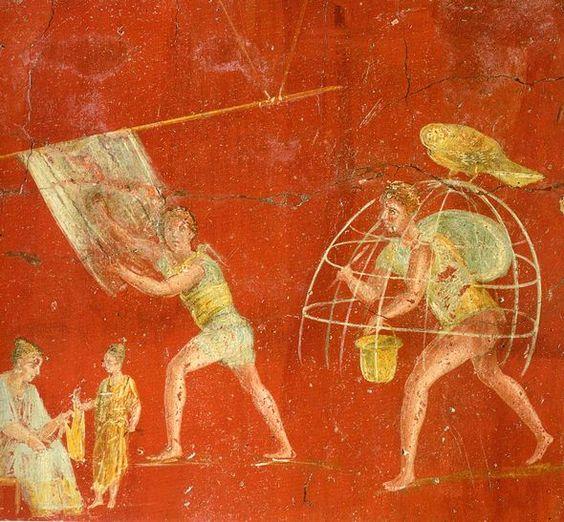 Fresk rzymski ukazujący foluszników