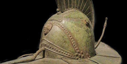 Beautiful gladiator helmet