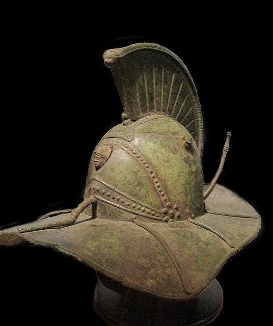 Beautiful gladiator helmet
