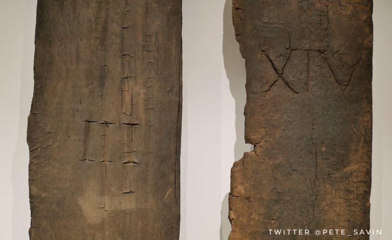 Drzwi z Vindolanda z zachowanymi numerami