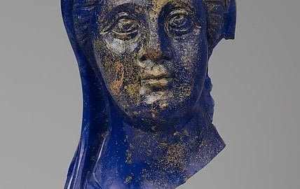 Roman glass image of a woman