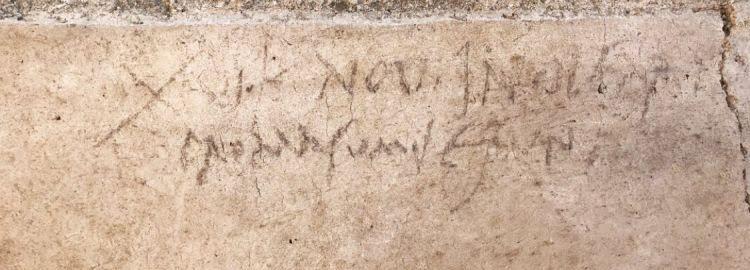W Pompejach natrafiono na inskrypcję, która może zmienić datowanie wybuchu Wezuwiusza z roku 79 n.e.